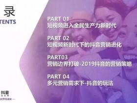 2019年抖音短视频营销报告(附全文下载)